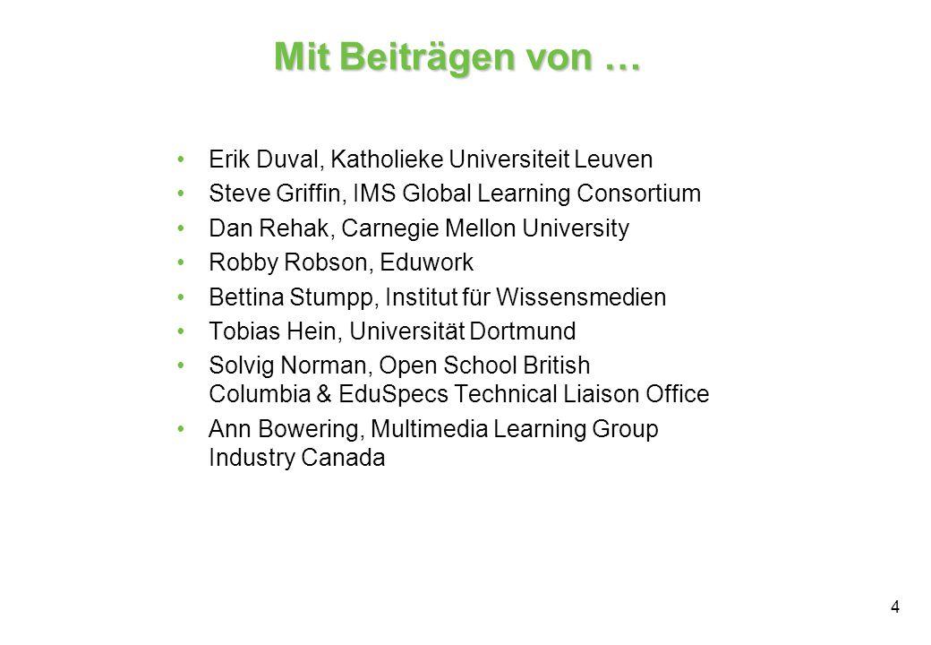 Mit Beiträgen von … Erik Duval, Katholieke Universiteit Leuven