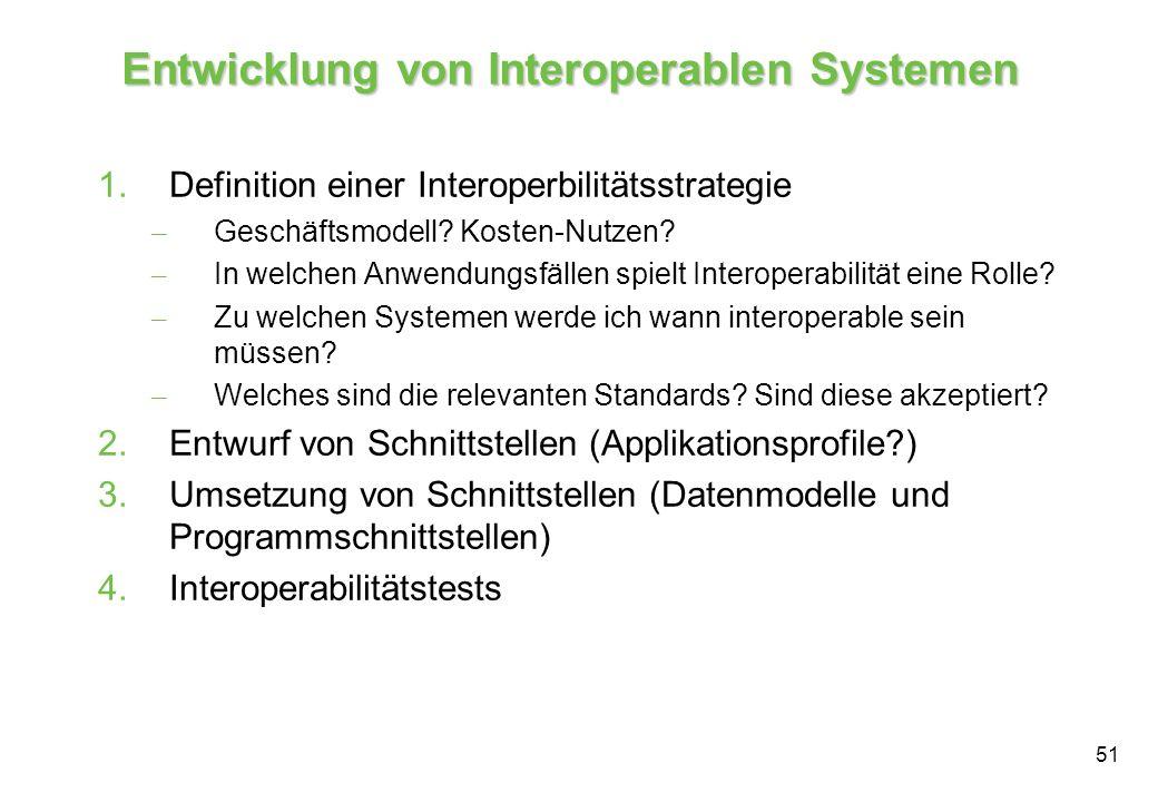 Entwicklung von Interoperablen Systemen