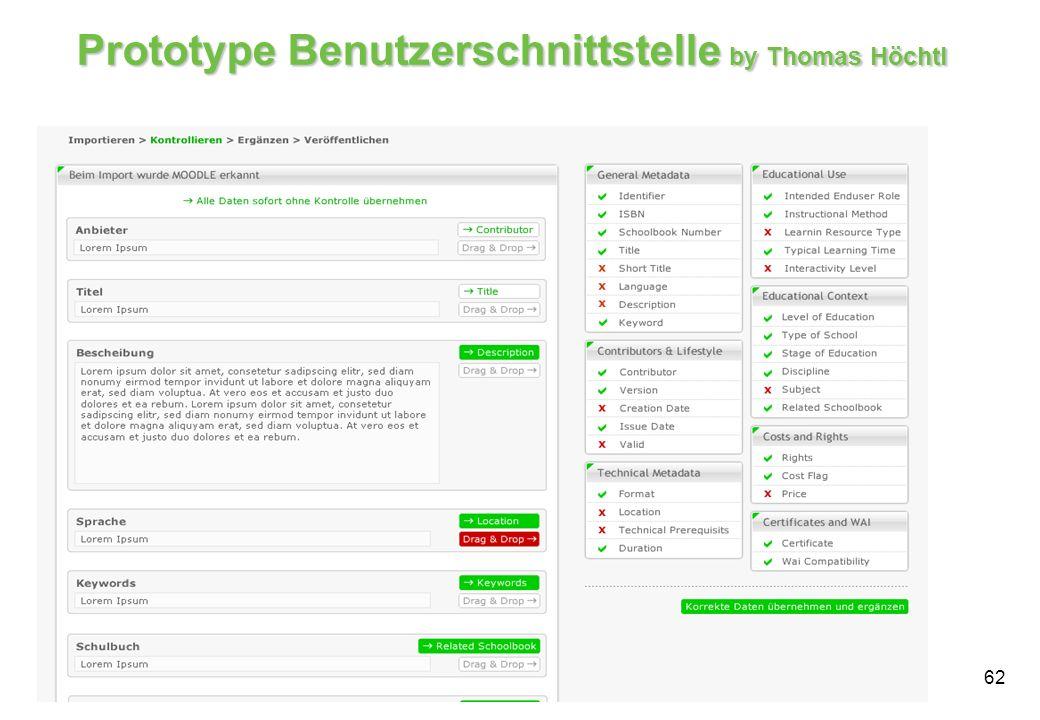 Prototype Benutzerschnittstelle by Thomas Höchtl