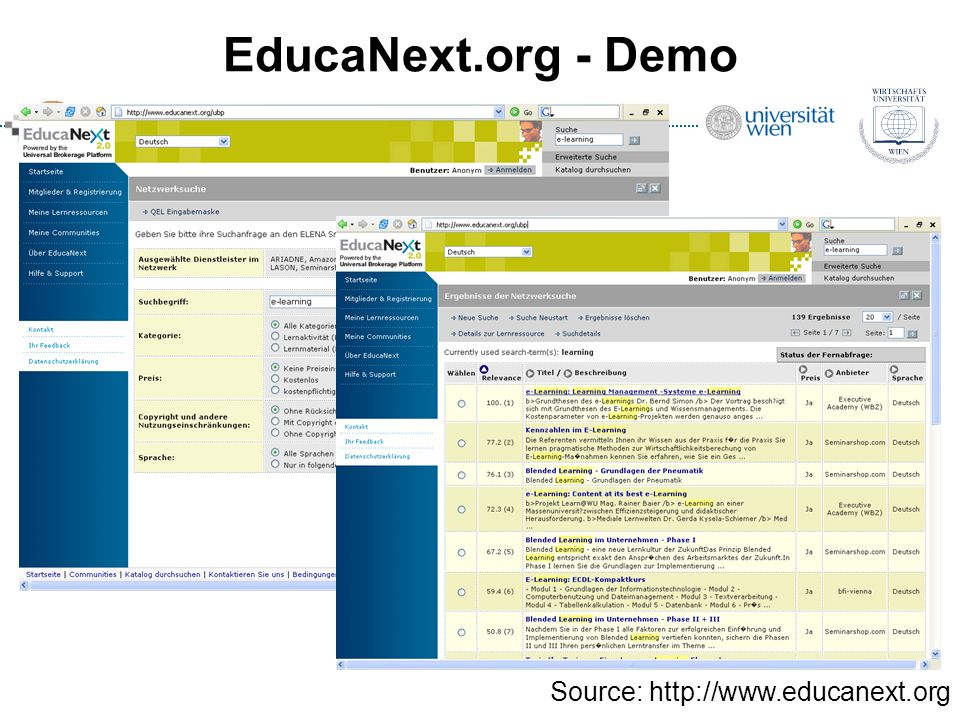 EducaNext.org - Demo Source: http://www.educanext.org