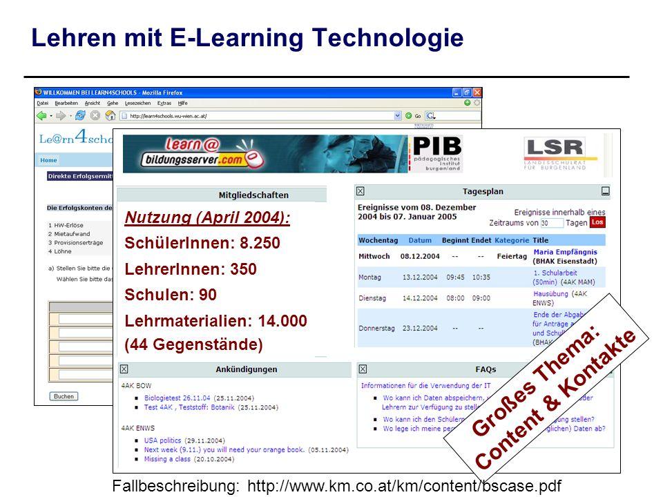 Lehren mit E-Learning Technologie