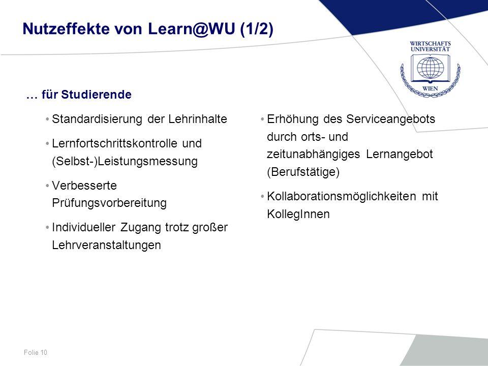 Nutzeffekte von Learn@WU (1/2)