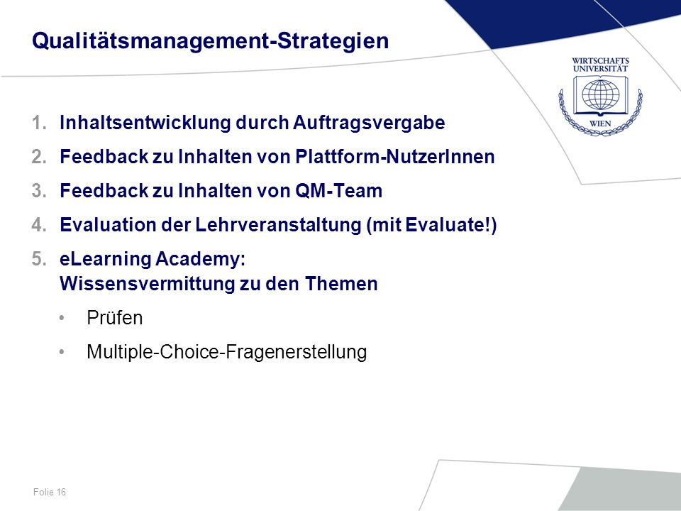 Qualitätsmanagement-Strategien