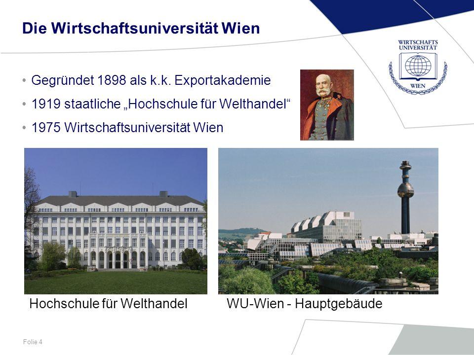 Die Wirtschaftsuniversität Wien