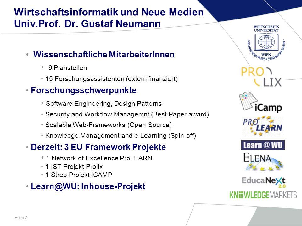 Wirtschaftsinformatik und Neue Medien Univ.Prof. Dr. Gustaf Neumann