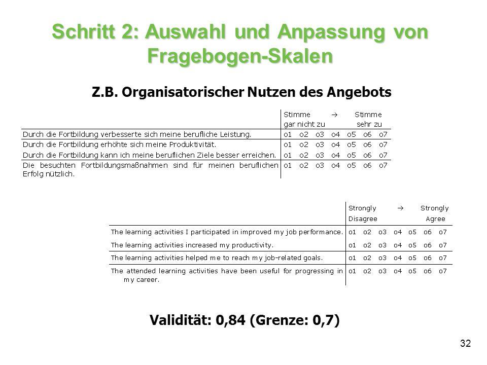 Schritt 2: Auswahl und Anpassung von Fragebogen-Skalen