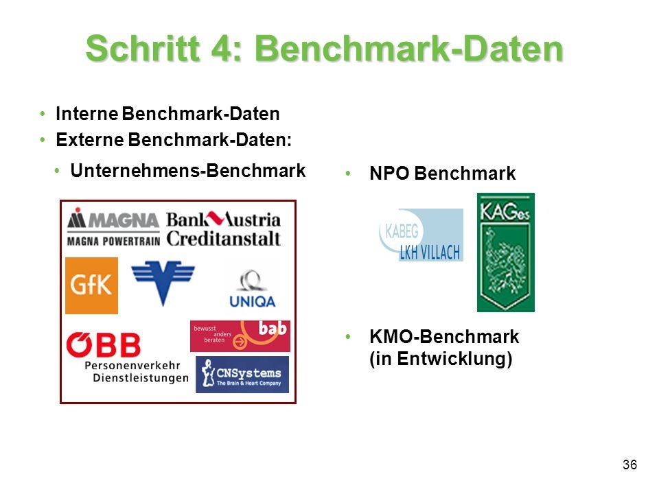 Schritt 4: Benchmark-Daten