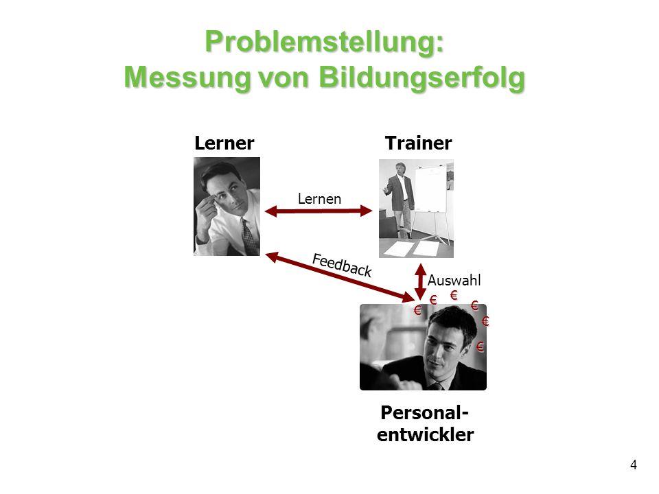 Problemstellung: Messung von Bildungserfolg
