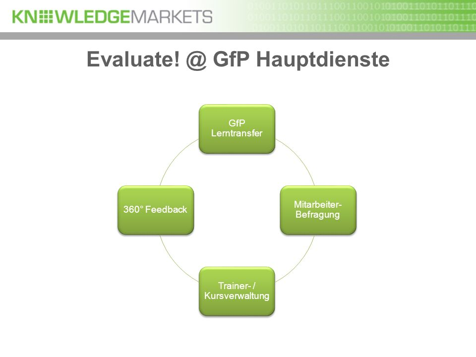 Evaluate! @ GfP Hauptdienste