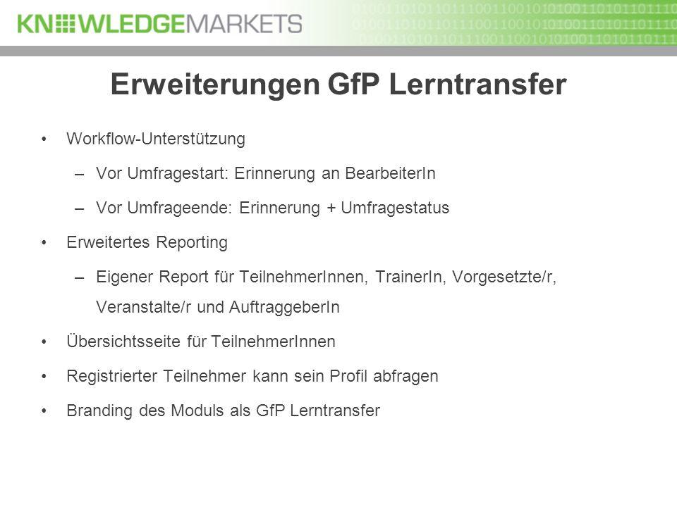 Erweiterungen GfP Lerntransfer