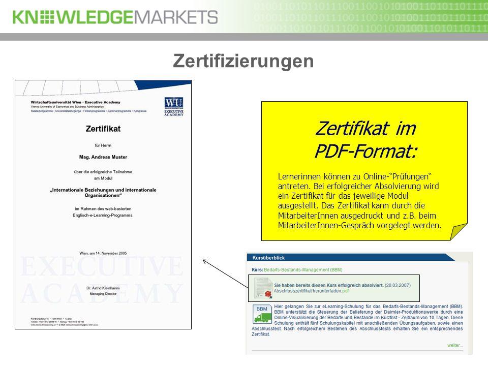 Zertifikat im PDF-Format: