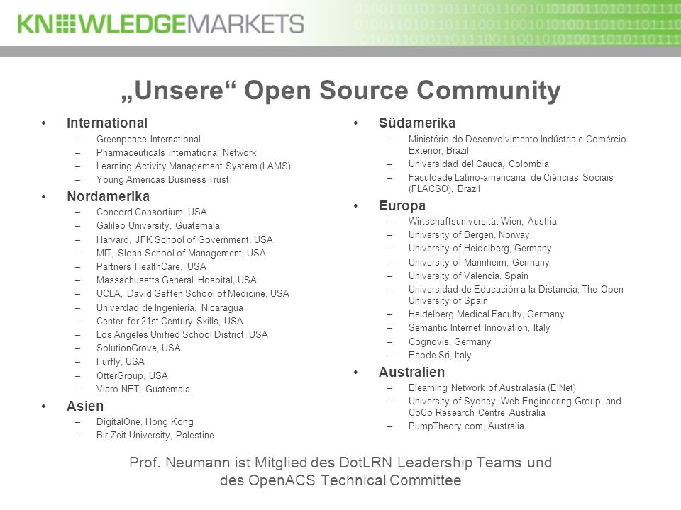 """Unsere Open Source Community"