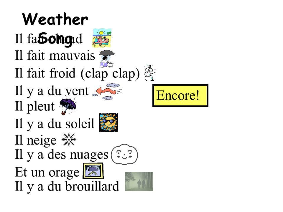 Weather Song Il fait chaud Il fait mauvais Il fait froid (clap clap)