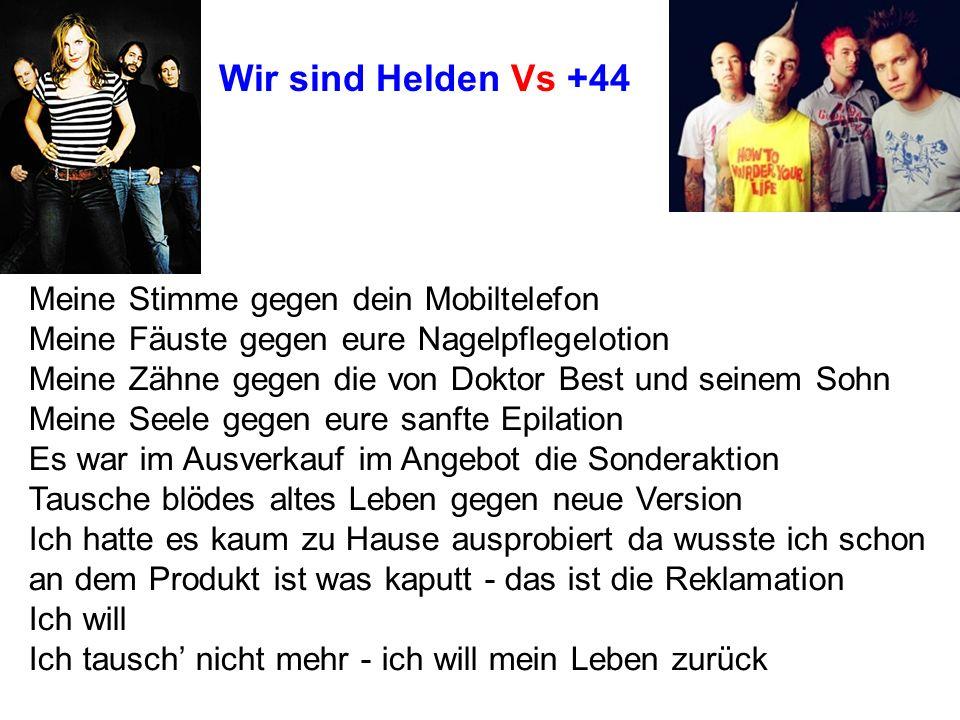 Wir sind Helden Vs +44