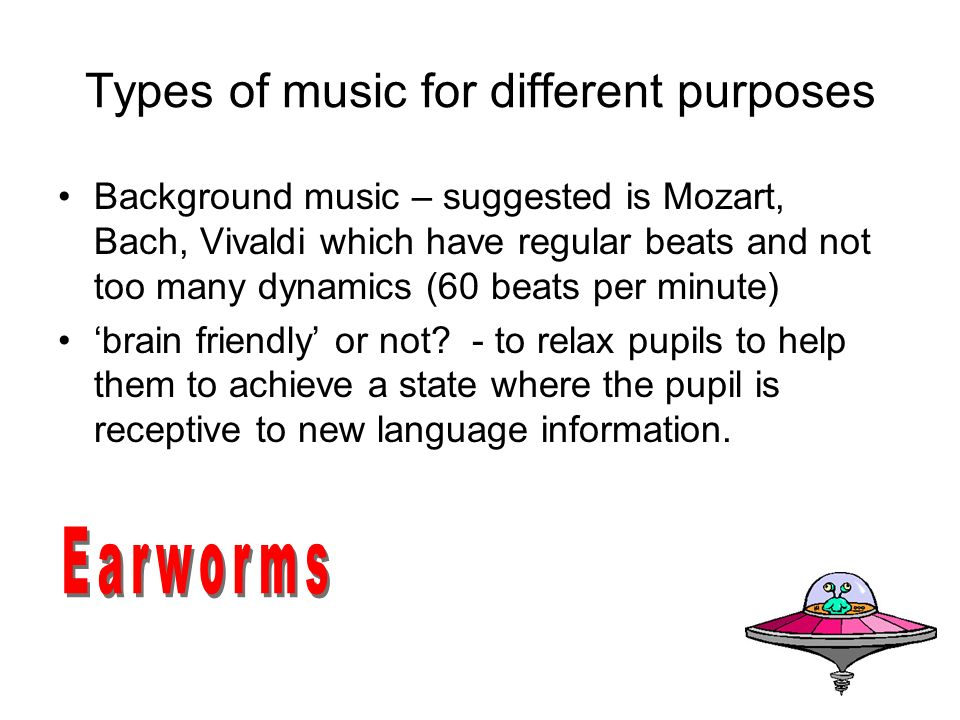 Types of music for different purposes