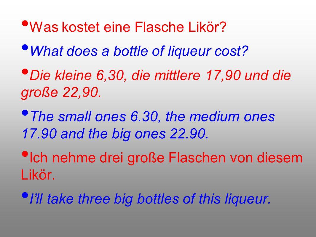 Was kostet eine Flasche Likör