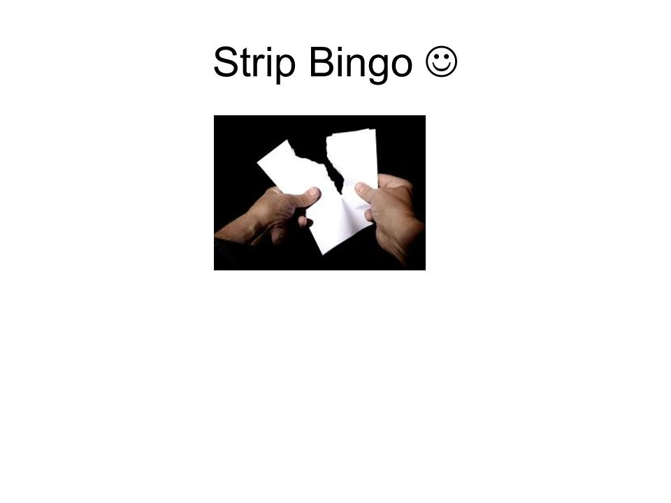 Strip Bingo 