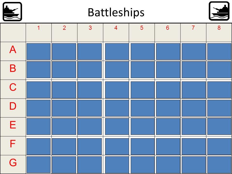 Battleships A B C D E F G 1 2 3 4 5 6 7 8 Ich werde als Mechanikerin