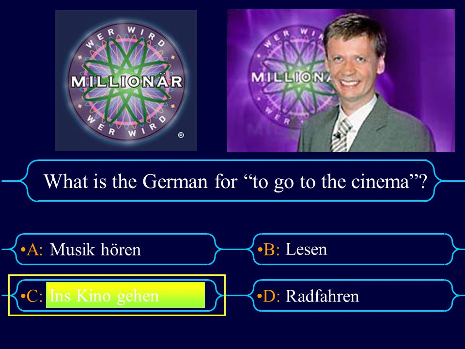 What is the German for to go to the cinema
