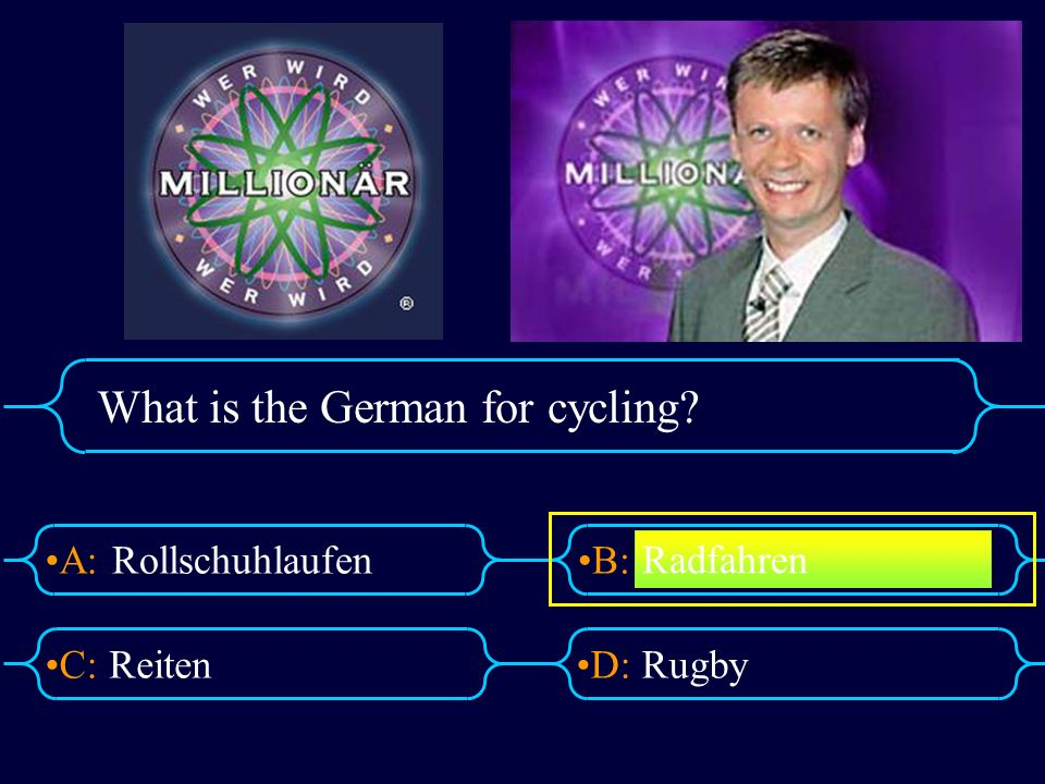 What is the German for cycling