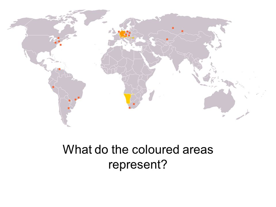 What do the coloured areas represent