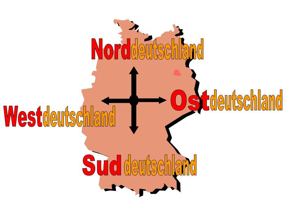 Nord deutschland Ost deutschland West deutschland Sud deutschland