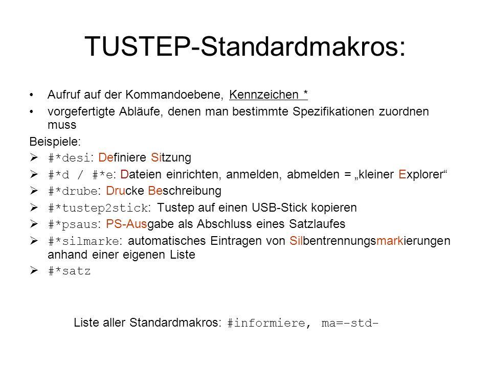 TUSTEP-Standardmakros: