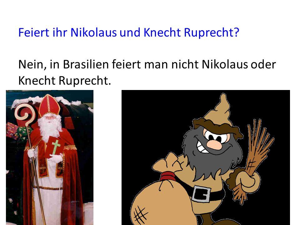 Feiert ihr Nicolaus und Knecht Ruprecht