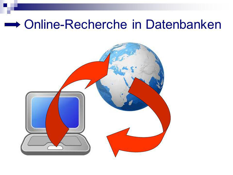 Online-Recherche in Datenbanken