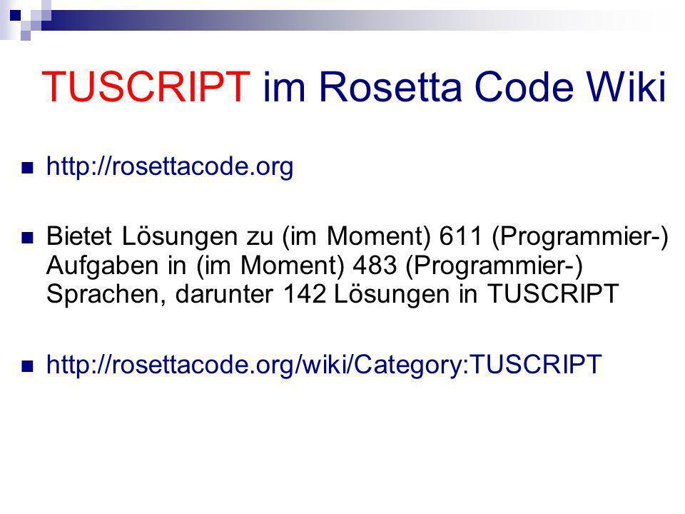 TUSCRIPT im Rosetta Code Wiki
