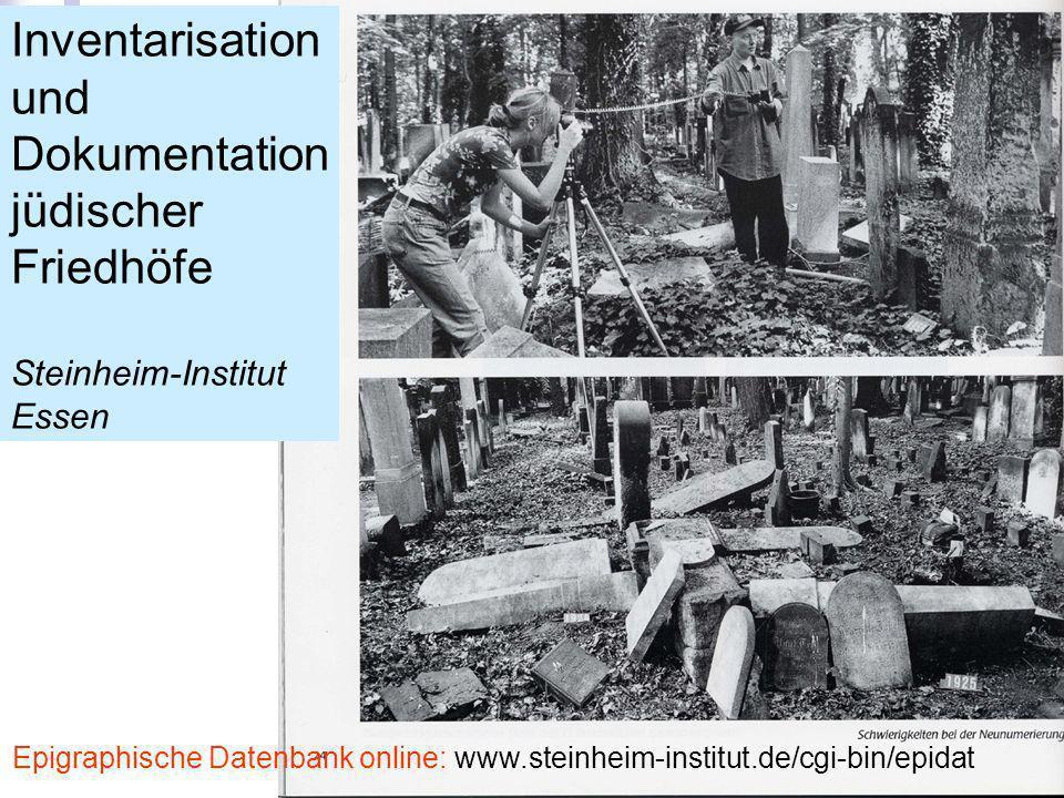 Inventarisation und Dokumentation jüdischer Friedhöfe