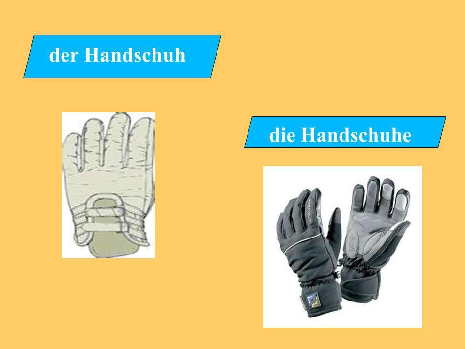 der Handschuh die Handschuhe