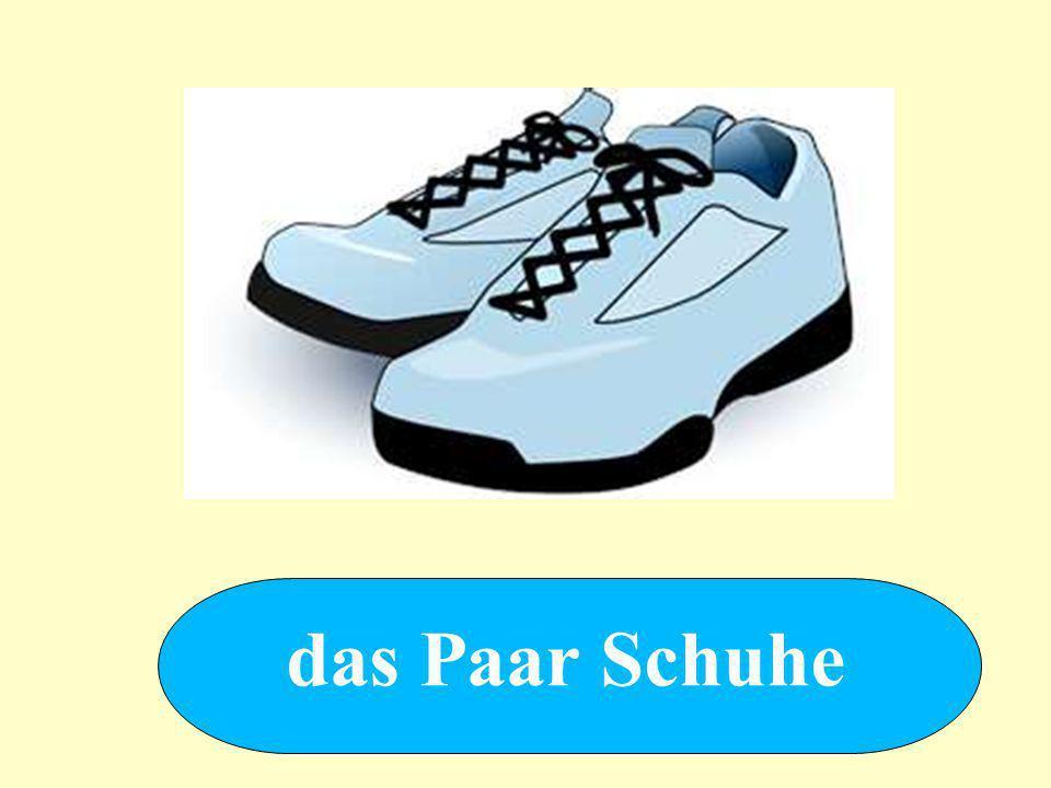 das Paar Schuhe