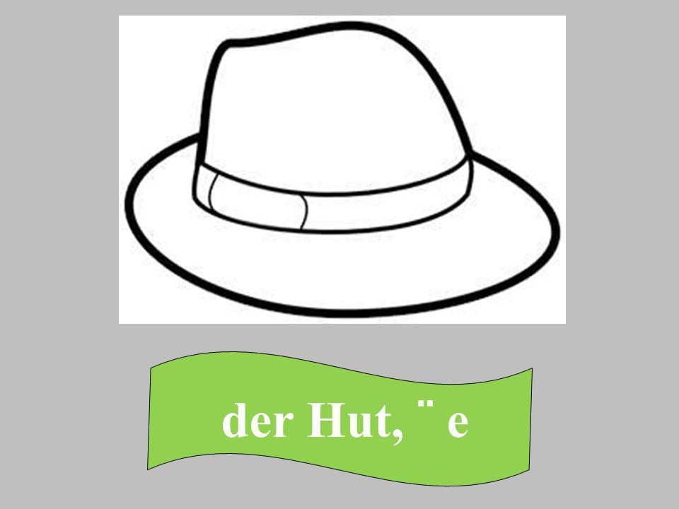 der Hut, ¨ e