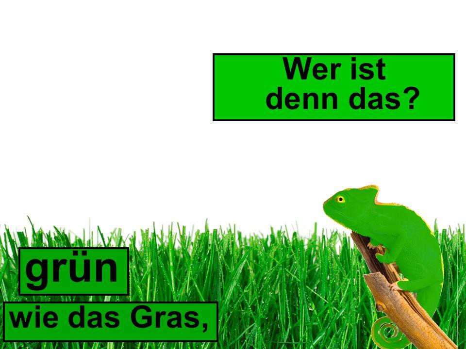 Wer ist denn das grün wie das Gras,