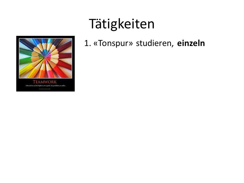 Tätigkeiten «Tonspur» studieren, einzeln