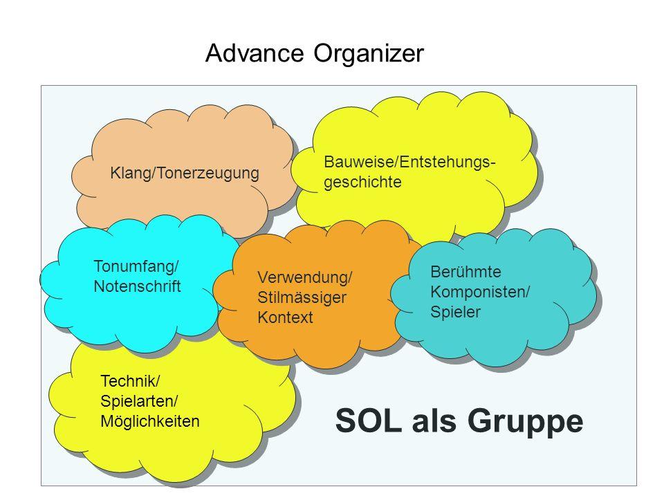 SOL als Gruppe Advance Organizer Bauweise/Entstehungs-geschichte