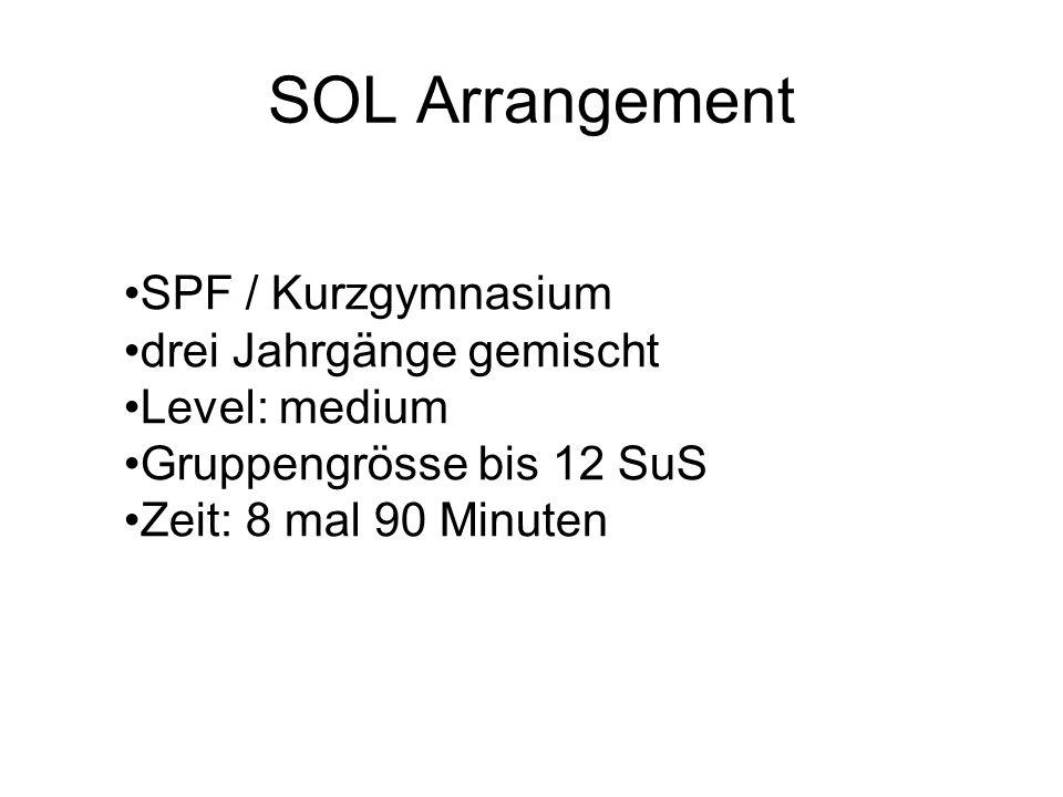SOL Arrangement SPF / Kurzgymnasium drei Jahrgänge gemischt