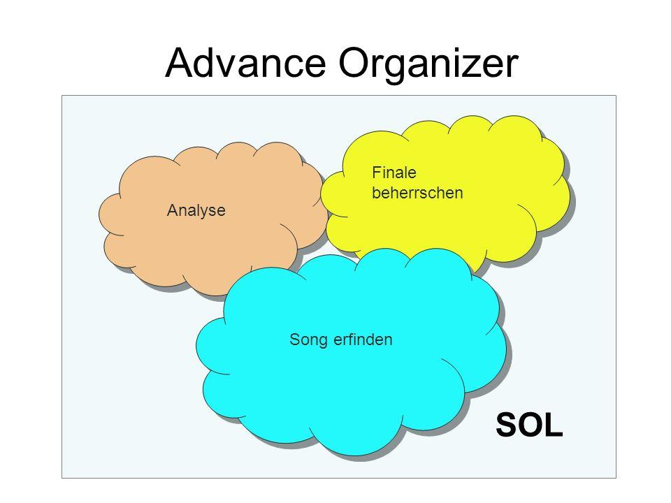 Advance Organizer Finale beherrschen Analyse Song erfinden SOL