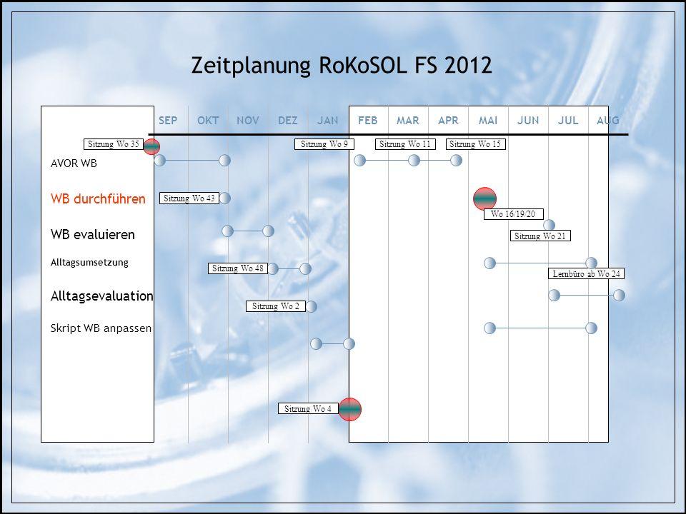 Zeitplanung RoKoSOL FS 2012