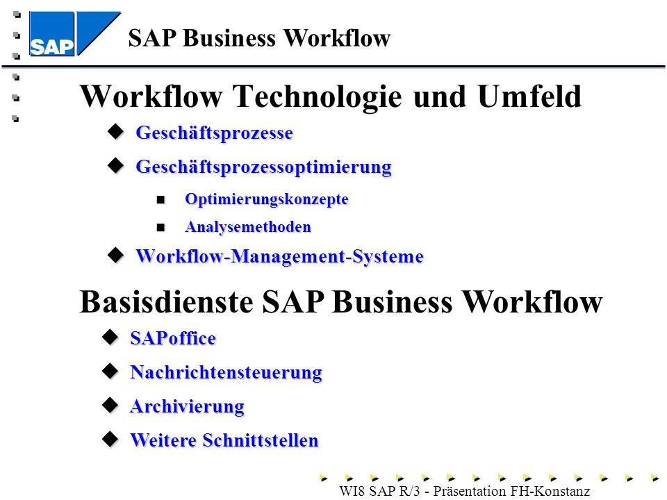 Workflow Technologie und Umfeld