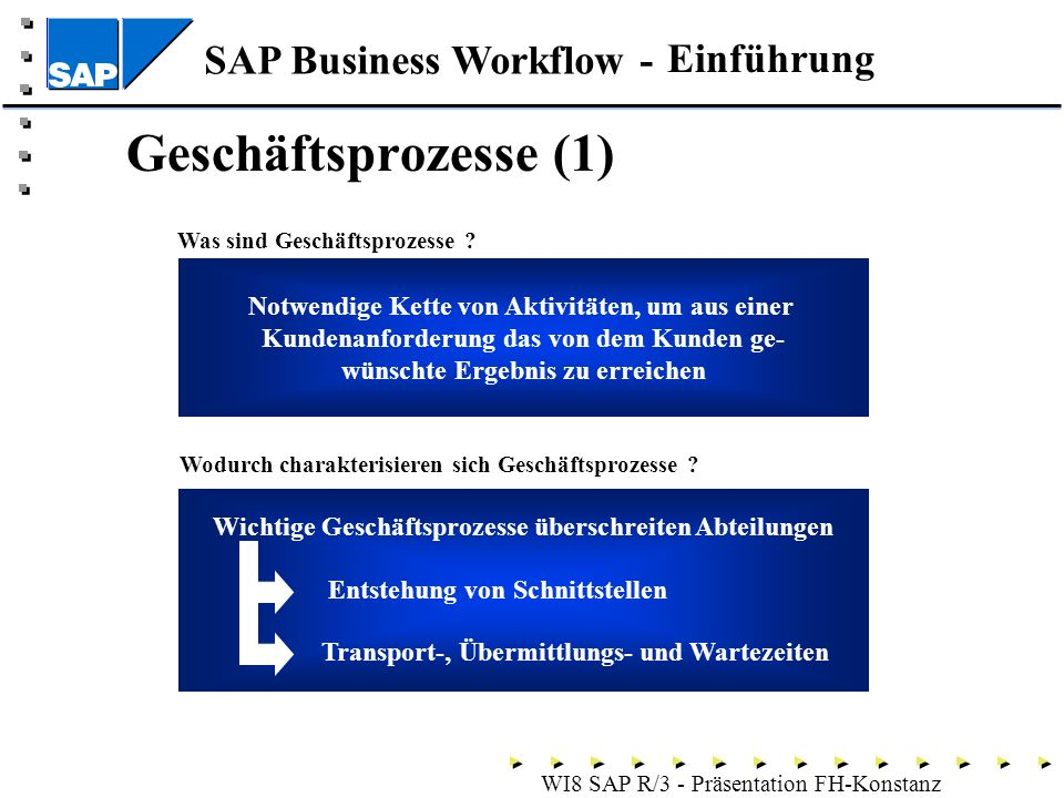 Geschäftsprozesse (1) Einführung