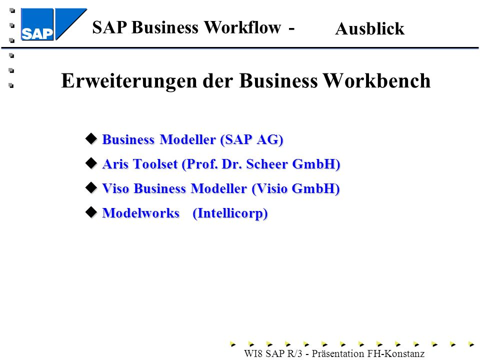 Erweiterungen der Business Workbench