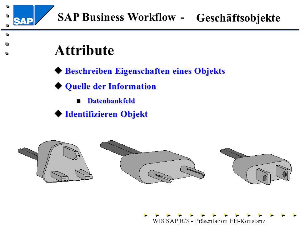 Attribute Geschäftsobjekte Beschreiben Eigenschaften eines Objekts