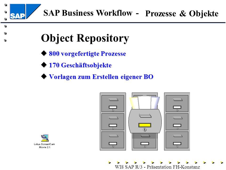 Object Repository Prozesse & Objekte 800 vorgefertigte Prozesse