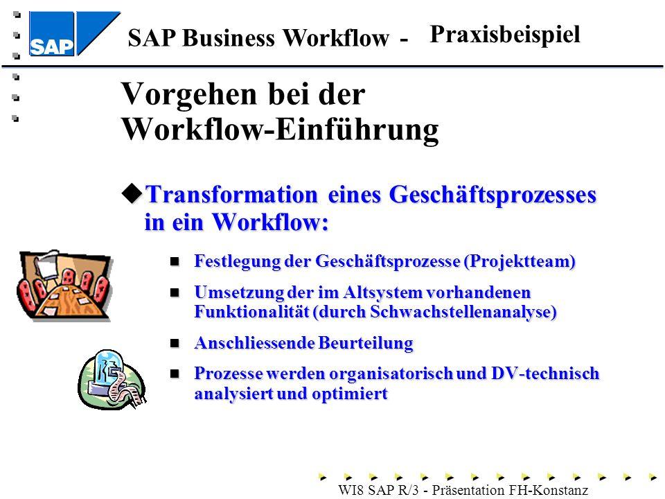 Vorgehen bei der Workflow-Einführung
