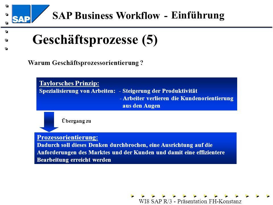 Geschäftsprozesse (5) Einführung Warum Geschäftsprozessorientierung