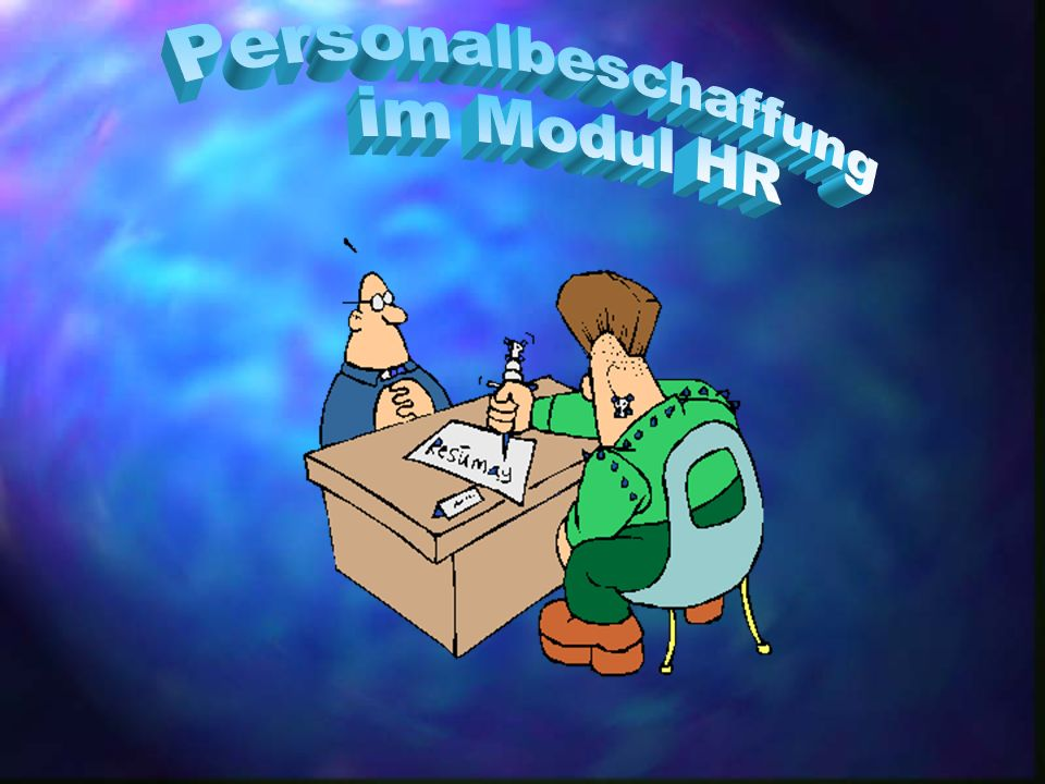 Personalbeschaffung im Modul HR