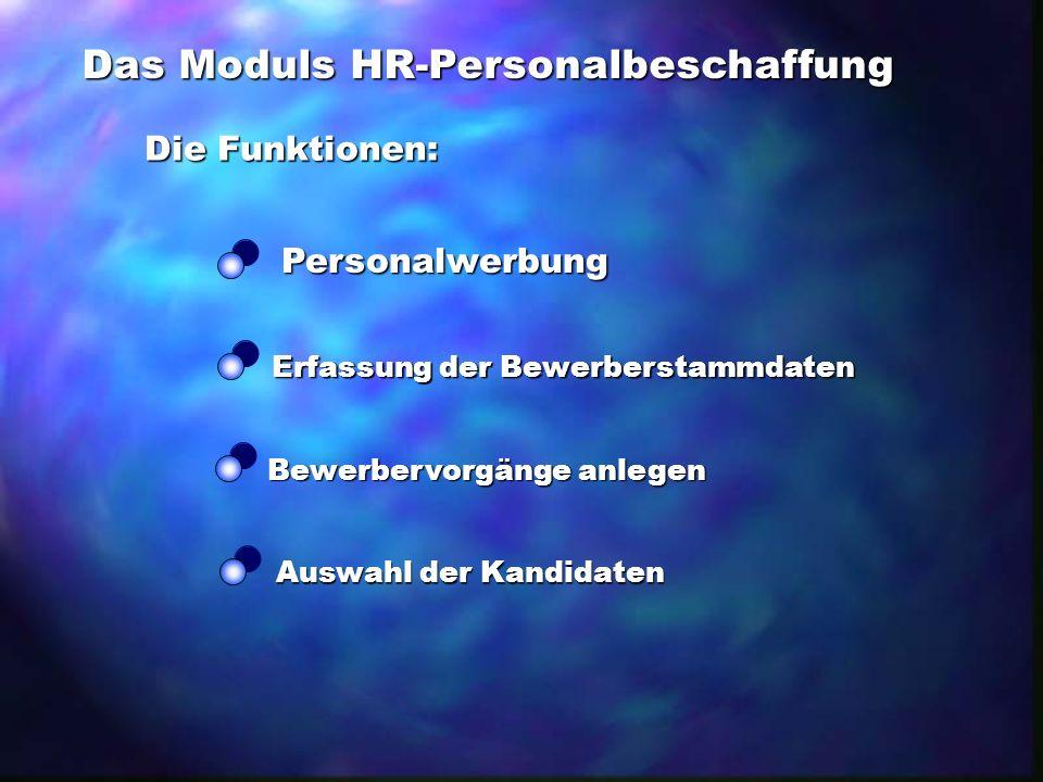 Das Moduls HR-Personalbeschaffung