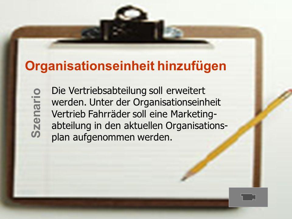 Organisationseinheit hinzufügen